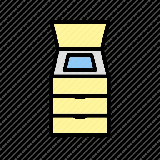 fax machine, photostat, scanner icon