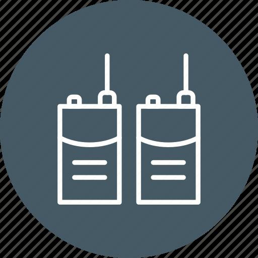radio set, transceiver, walkie talkie icon