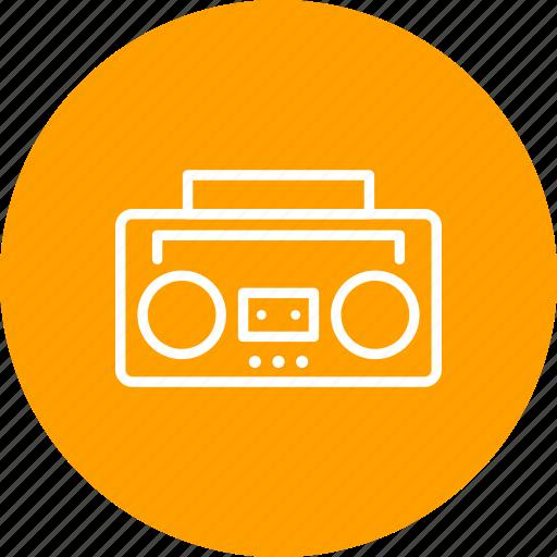 audio tape, radio icon