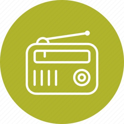 fm radio, radio, radio set icon