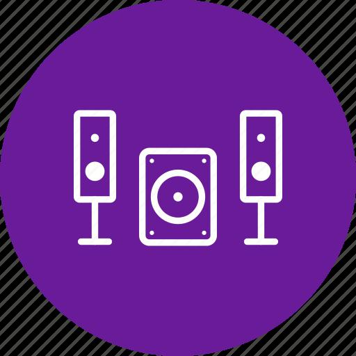 music system, speaker icon