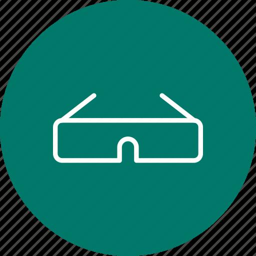cinema, glasses, steroscopic icon