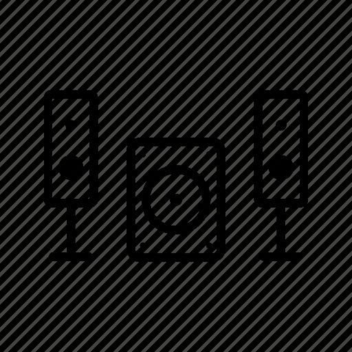 sound system, speaker icon