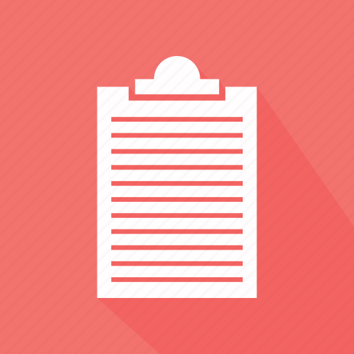clipboard, notepad, paper icon