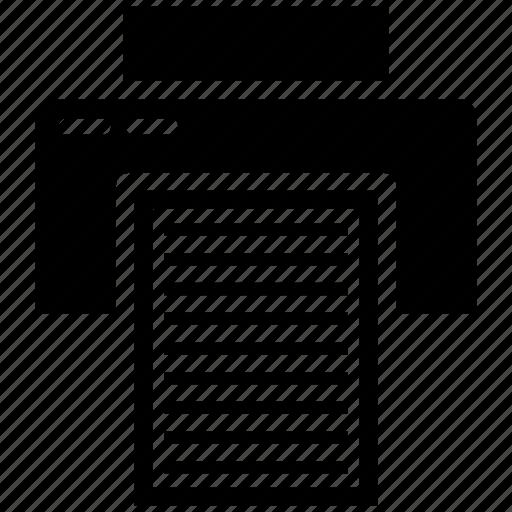 device, paper, print, printer icon icon
