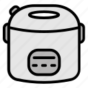 electronic, electronics, rice cooker, technology icon