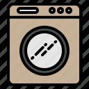 electronic, electronics, technology, washer, washing machine icon
