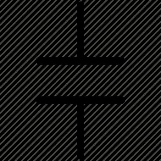capacitor, ceramic capacitor icon
