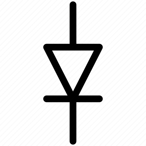 diode, diode icon, diode symbol icon