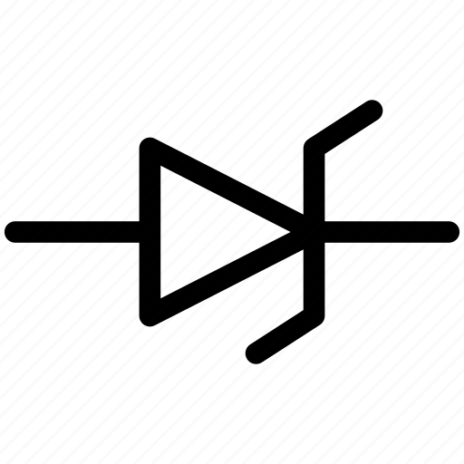 diode, diode symbol, diode zener, zener icon