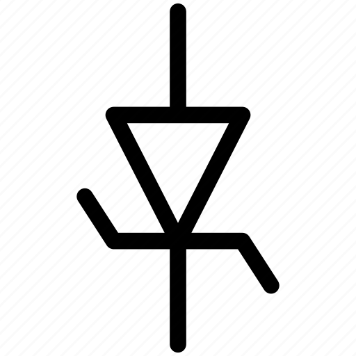 diode, diode symbol, diode zener, zener icon