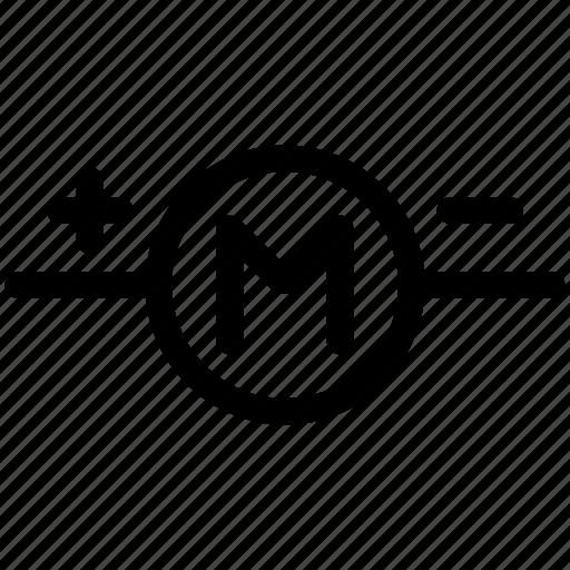Engine symbol, motor, motor symbol icon