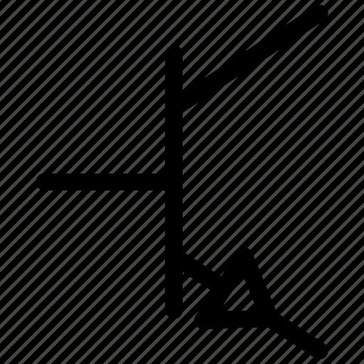 npn, npn transistor, transistor, transistor symbol icon