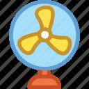 electric fan, fan, pedestal fan, table fan, ventilator