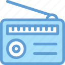 media, old radio, radio, radio set, transmitter icon