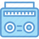 boombox, cassette player, cassette recorder, radio stereo, stereo icon