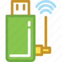 internet dongle, usb, usb adapter, usb modem, wifi usb icon