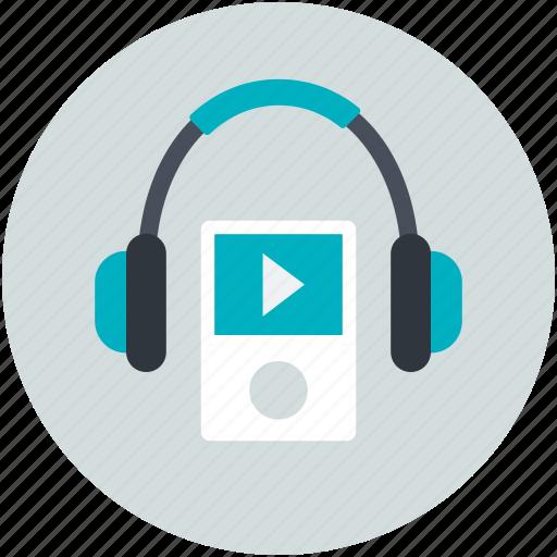 enjoying music, entertainment, headphones, ipod, music listening icon