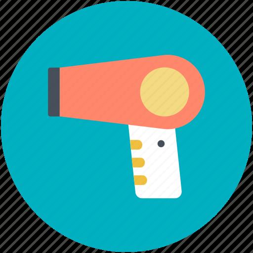 blow dryer, hair dryer, hair heater, hair styling, salon electricals icon