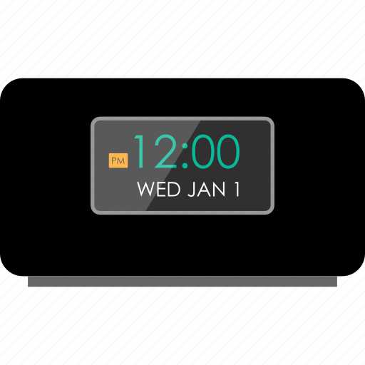 alarm, clock, electronic, gadget, music, player, tech icon