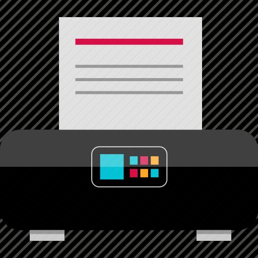 electronic, gadget, paper, print, printer, smart, tech icon