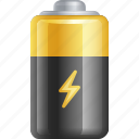 battery, battery powered, electricity, electronics, power icon