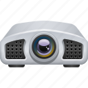electronics, film projector, movie projector, projector, video projector icon