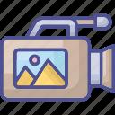 camera, gadget, photography camera, photoshoot equipment, video camera icon