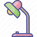 lamp, light, stand light, study lamp, table lamp icon