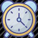 alarm, alarm clock, analog clock, clock, ringing alarm icon