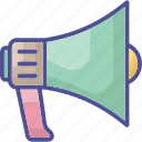 advertising, announcement, bullhorn, marketing, megaphone