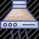 cooker hood, exhaust hood, extractor hood, kitchen chimney, kitchen hood icon