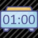 alarm clock, bedside clock, digital clock, flip clock, modern timmer icon