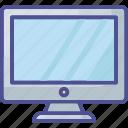 computer, desktop, display, display screen, electronic monitor icon