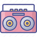 audio player, music tape, output device, tape recorder, vintage tape icon