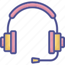 computer accessory, customer services, hardware, headphones, output device icon