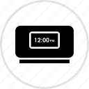 alarm, clock, electronics, gadget, tech icon