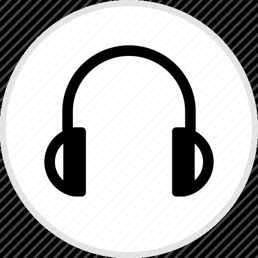 electronics, gadget, headphones, tech icon