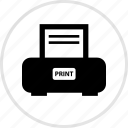 electronics, gadget, printer, tech icon