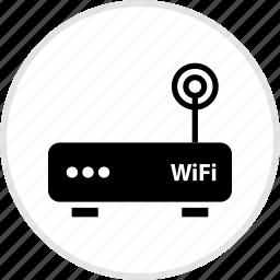 antenna, electronics, gadget, single, tech icon
