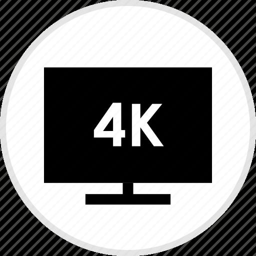 electronics, four, gadget, k, tech, tv icon