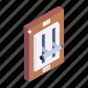 switchboard, breaker buttons, breaker panel, on off buttons, circuit breaker buttons icon