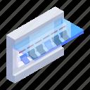 circuit breaker, breaker box, breaker panel, electric breaker, power breaker icon