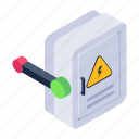 changeover, breaker button, breaker panel, on off button, circuit breaker button icon