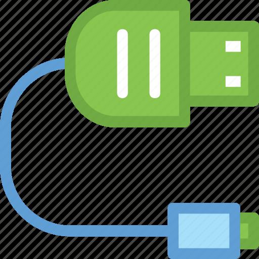 data cable, usb cable, usb cord, usb jack, usb plug icon