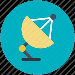 dish antenna, parabolic antenna, radar, satellite dish, space icon