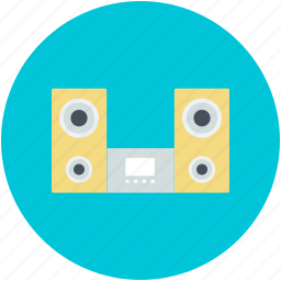 boombox, ghetto blaster, hi-fi stereo system, musical player, sound system icon