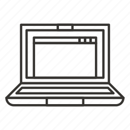 computer, laptop, notebook, pc, screen icon