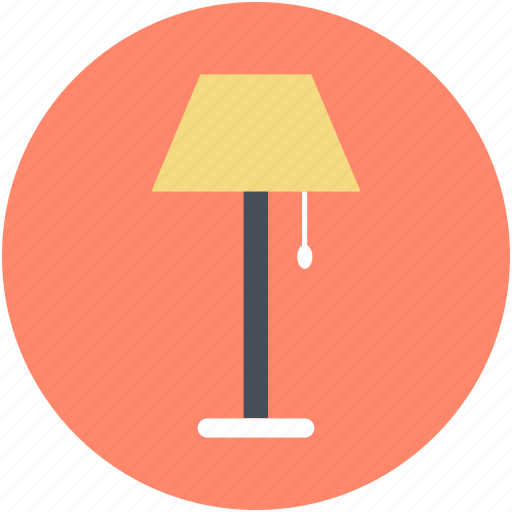 electric, floor lamp, lamp, lamp light, living room lamp icon