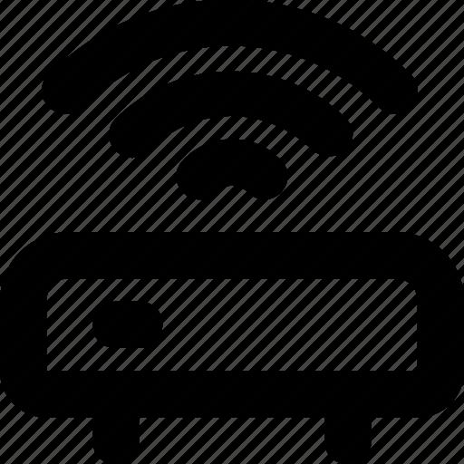 internet, wifi modem, wifi router, wifi signals, wireless icon